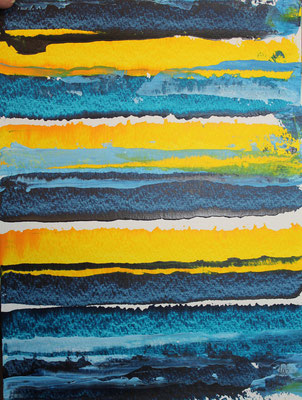 Greetsiel - Acryl auf Papier 32x24 cm Preis auf Anfrage