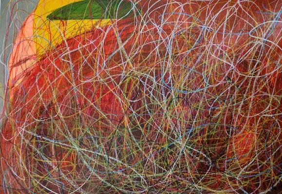 ohne Titel - Acryl Mischtechnik auf Papier 70x100cm Preis auf Anfrage