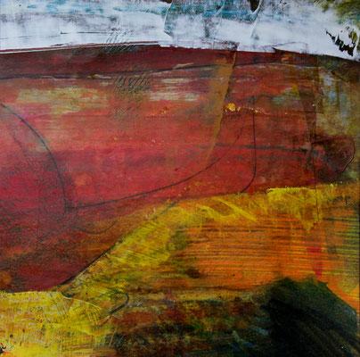 ohne Titel - AcrylMischtechnik auf Papier 14x14cm Preis auf Anfrage
