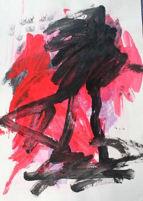 ohne Titel - Acryl auf Papier 70x50cm Preis auf Anfrage