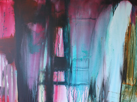 Ohne Titel Acryl auf Leinwand 60x80 cm verkauft