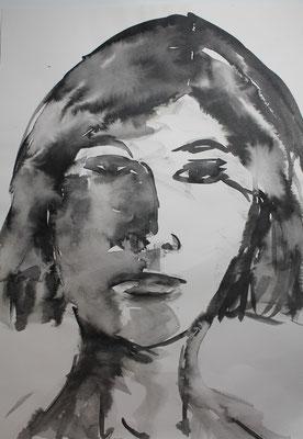 Frau - Tinte auf Papier 70x50 cm Preis auf Anfrage