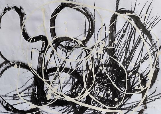 21_29 Acryl + Ölkreide auf Papier 50x70cm - Preis auf Anfrage