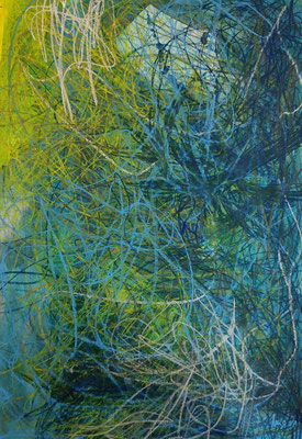 ohne Titel - Acryl Mischtechnik auf Papier 100x70cm Preis auf Anfrage