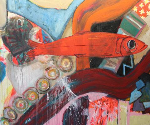 Ohne Titel Acryl auf Leinwand 100x120 cm verkauft