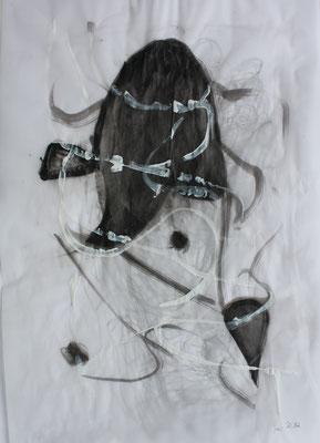 ohne Titel - Acryl auf Papier 30x40 cm 2teilig Preis auf Anfrage