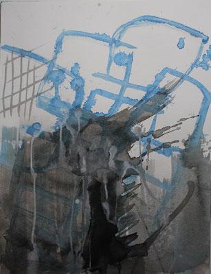 ohne Titel - Tinte auf Papier 30x40 cm Preis auf Anfrage