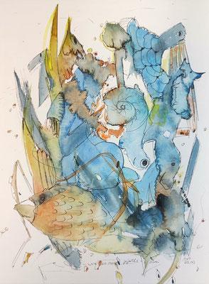 ...wie es mir gefällt 1 - zwei/20_143 Aquarell/Fineliner auf Papier 32x24cm - Preis auf Anfrage