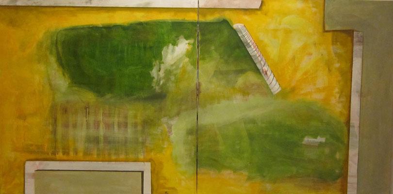 Ohne Titel Acryl auf Leinwand 100x200 cm 2teilig Preis auf Anfrage
