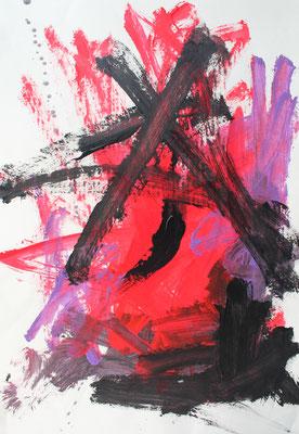ohne Titel - Acryl auf Papier 70x50 cm Preis auf Anfrage