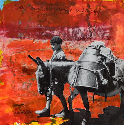 Serie Europäische Vermächtnisse - Collage auf Papier - 20x20xcm Preis auf Anfrage