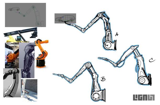 Mercedes Benz Roadshow_RobotArm Concept 03 - Peter Bartels