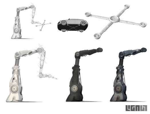 Mercedes Benz Roadshow_RobotArm Concept 04 - Peter Bartels