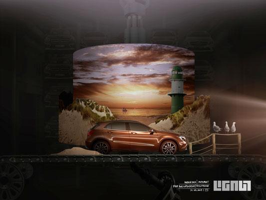 Mercedes Benz Roadshow_Styleframe RollupDisplay_beach - Peter Bartels
