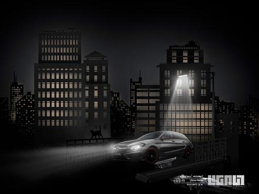Mercedes Benz Roadshow_Styleframe CityNight - Peter Bartels