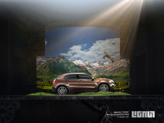 Mercedes Benz Roadshow_Styleframe RollupDisplay_mountains - Peter Bartels