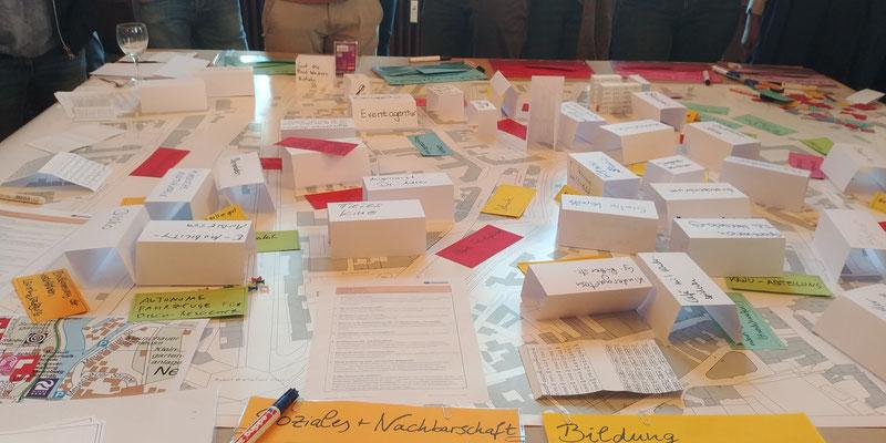 """""""Planning for Real"""" Planspiel zur Gestaltung eines Stadtviertels"""