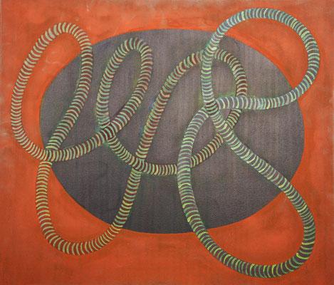 DNA 2, 2015, Tusche auf Leinwand, 60x80 cm