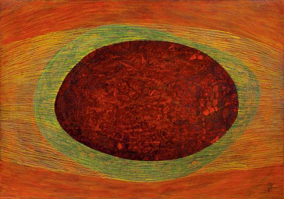 Zellkörper 02, 2011, Tusche, Farbstifte auf Papier, 70x100 cm