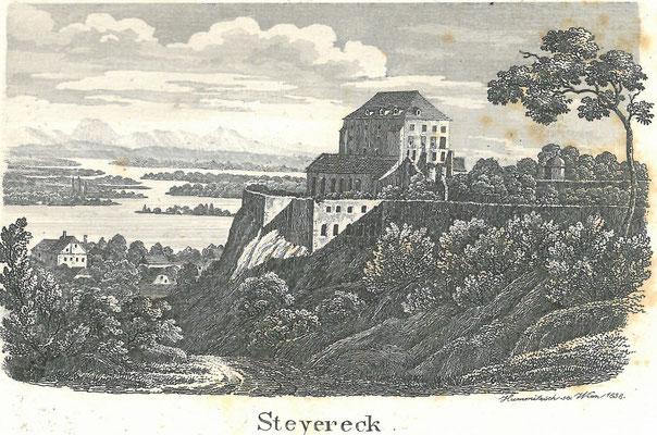 Stich 1838, Hummisch, aus Panorama der Donau von Linz bis Wien