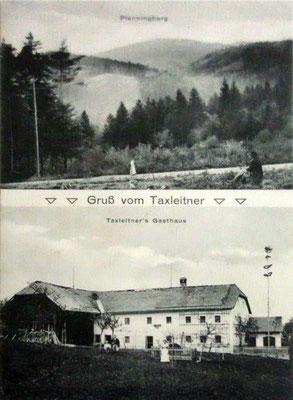 Gruß vom Taxleitner, um 1911