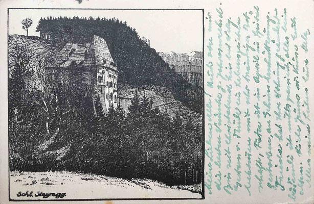 Postkarte 1945; nach Federzeichnung von Robert Treml
