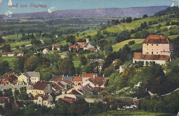 Karte - gelaufen 1917