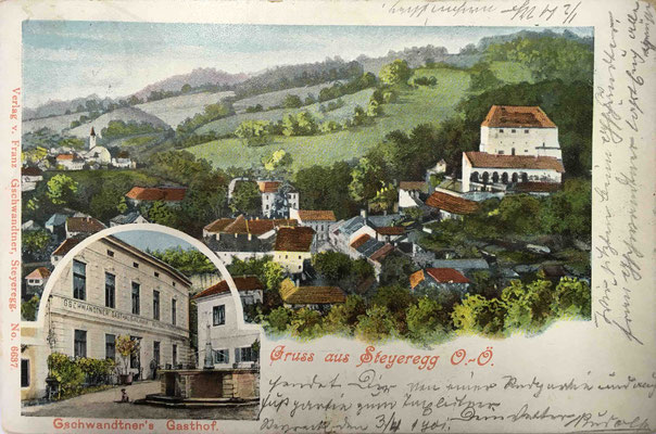 Karte gelaufen 1901