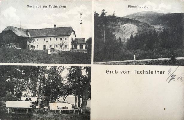 Postkarte gelaufen 1915