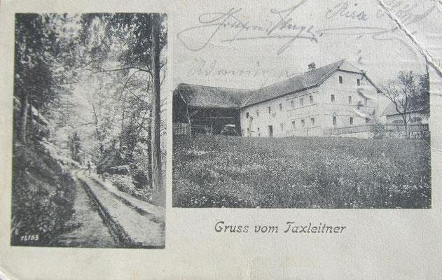 Gruß vom Taxleitner - 1907