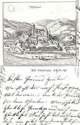 Merianstich auf Postkarte, 1905