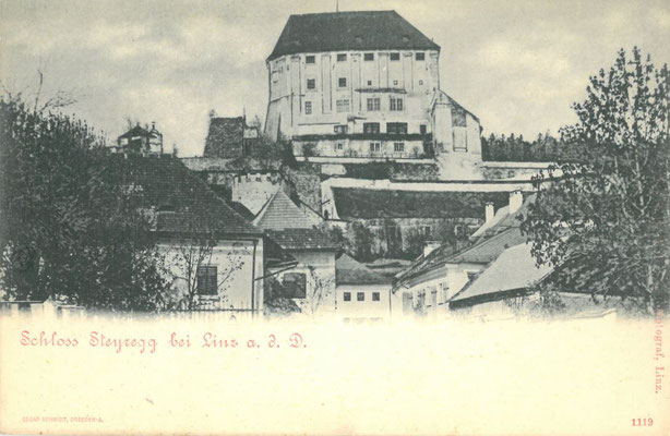 Schloß Steyregg um 1900