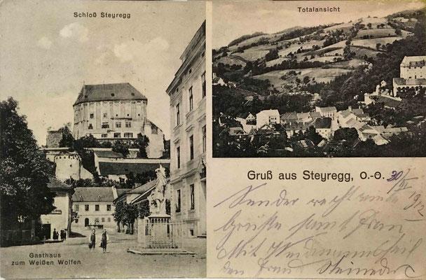 Postkarte gelaufen - 1912