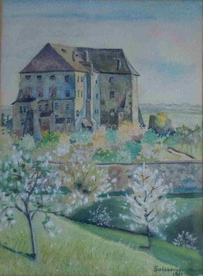 Aquarell von Othmar Gaisberger von 1951