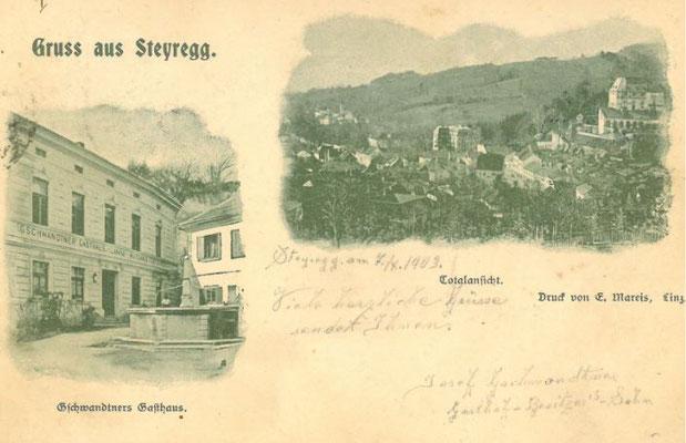 Gschwandtners Gasthaus um 1906