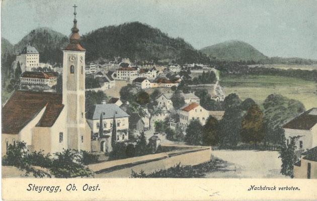 Ansicht der Stadtpfarrkirche um 1908