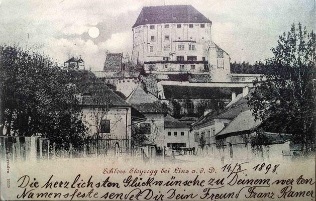 Mondscheinkarte - gelaufen 1898