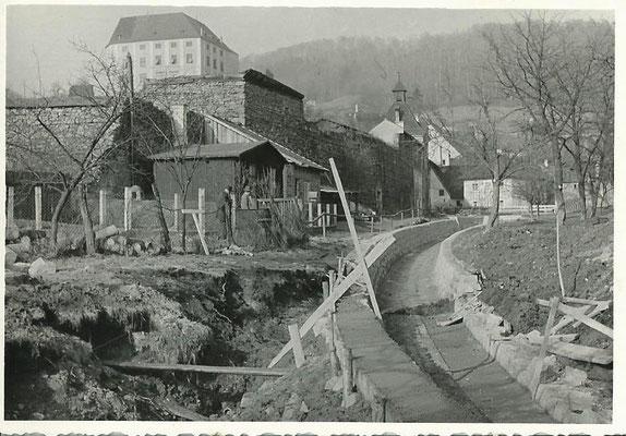 Fischergasse während Wildbachverbauung
