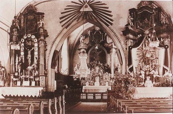 Stadtpfarrkirche innen - vor 1970
