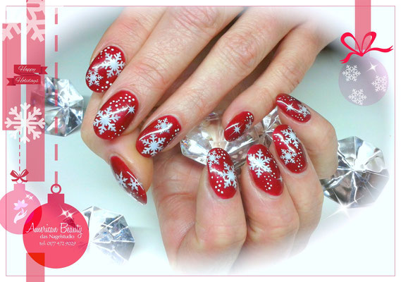 'Merry Christmas!' -  Gel Modellage mit Airbrush Design