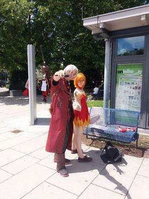 Dante (leider ohne Künstlerseite oder Name) und Salama (shikimaru)