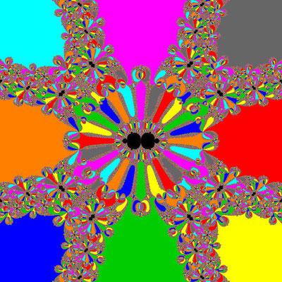 Basins of Attraction z^8+3z^4-4=0 Chun-Kim II-Verfahren