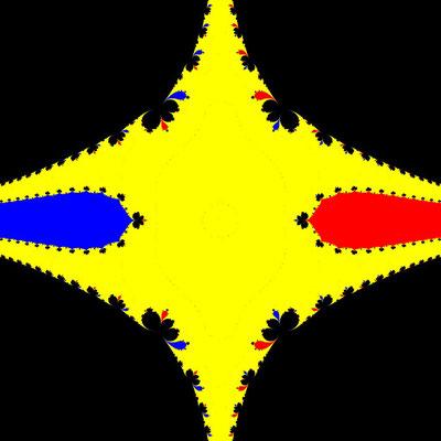 Basins of Attraction z^3-z=0 Steffensen-Verfahren, beta=1, B=[-2, 2]x[-2, 2]