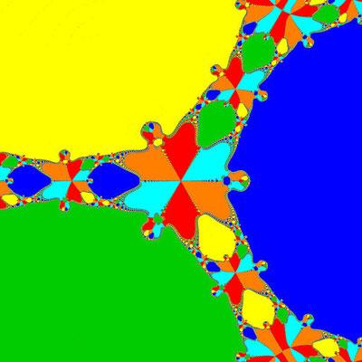 Basins of Attraction z^6+10z^3-8=0, Basto-Verfahren, B=[-1, 1]x[-1, 1]