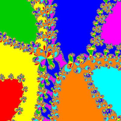 Basins of Attraction z^7–(3-i)z^5+6z^3–(3+i)z+3=0 Chun-Kim II-Verfahren