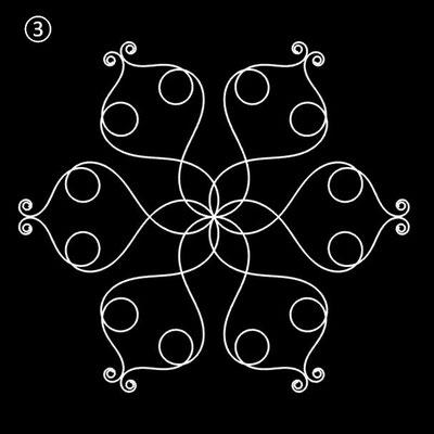 Ornament aus polynomialen Spiralen - Beispiel 03