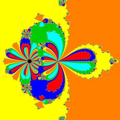 Basins of Attraction z^6-10z^3+8=0, Rafiq-Raffiulah-Verfahren