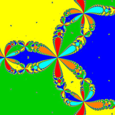 Basins of Attraction z^6+10z^3-8=0, Feng-Verfahren, B=[-1, 1]x[-1, 1]