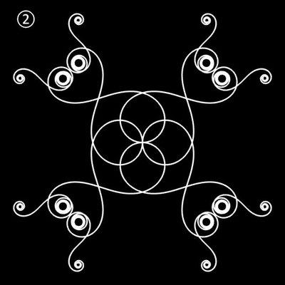 Ornament aus polynomialen Spiralen - Beispiel 02