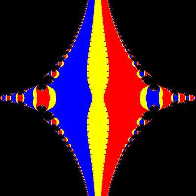 Basins of Attraction z^3-z=0 Steffensen-Verfahren, beta=-1, B=[-2, 2]x[-2, 2]